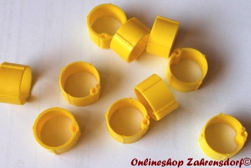 Clipsringe gelb 10 mm 10 Stück