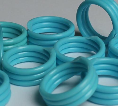 Spiralringe 16 mm helllblau 10 Stück