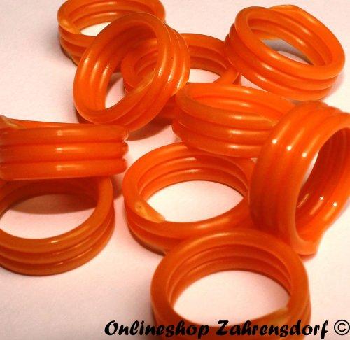 Spiralringe 22 mm orange 10 Stück