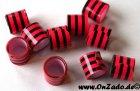 Bandringe 8 mm pink - schwarz 10 Stück