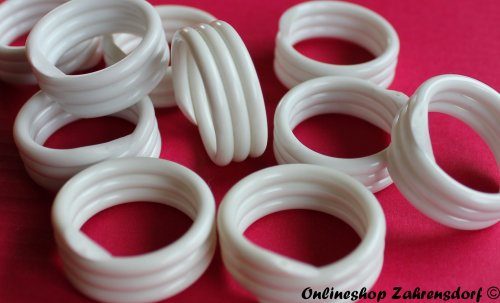 Spiralringe 14 mm weiß 10 Stück