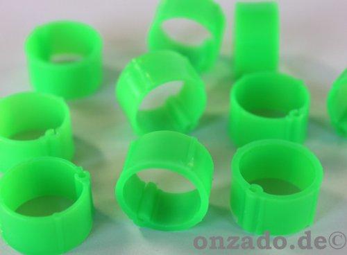 Clipsringe leuchtend hellgrün 14 mm 10 Stück