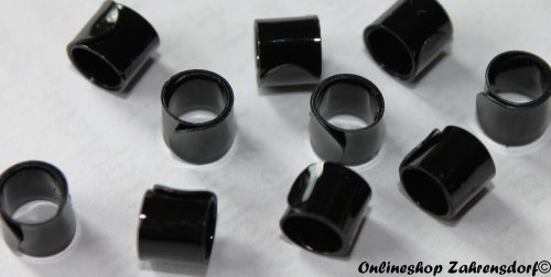 Bandringe 6 mm schwarz 10 Stück