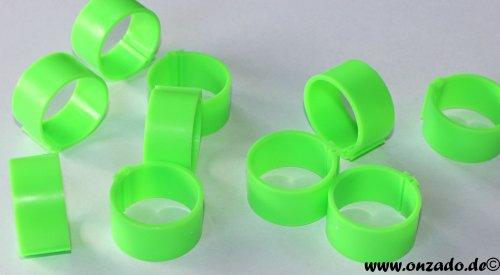 Clipsringe 25 mm leuchtgrün 10 Stück