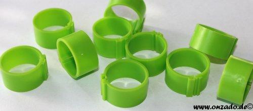 Clipsringe 20 mm grasgrün 10 Stück