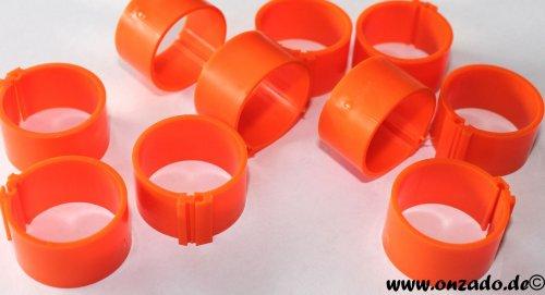Clipsringe 20 mm orange 10 Stück