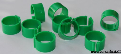 Clipsringe 20 mm dunkelgrün 10 Stück