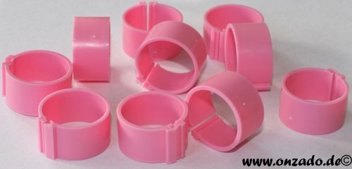 Clipsringe 20 mm rosa 10 Stück