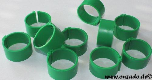 Clipsringe 25 mm dunkelgrün 10 Stück