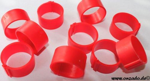 Clipsringe 25 mm rot 10 Stück