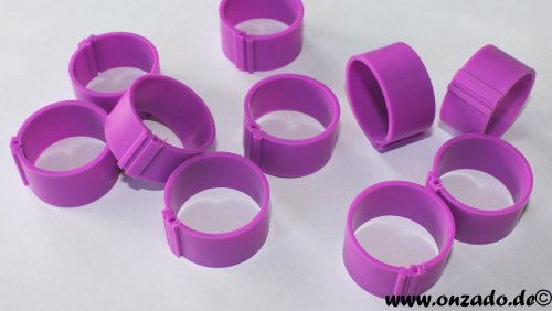 Clipsringe 25 mm lila 10 Stück