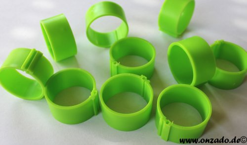 Clipsringe 25 mm grasgrün 10 Stück
