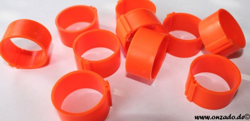 Clipsringe 25 mm orange 10 Stück