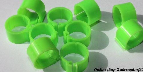 Clipsringe leuchtgrün 11 mm 10 Stück