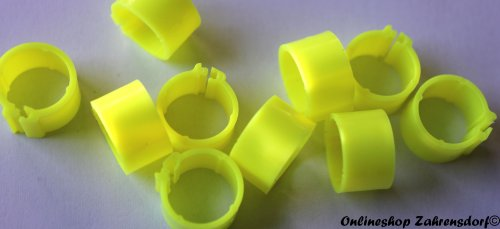 Clipsringe neongelb 11 mm 10 Stück