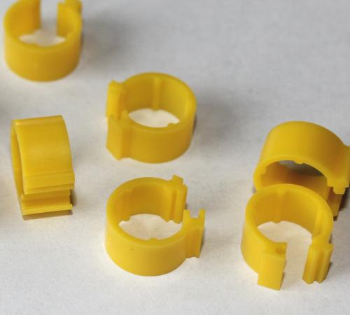 Clipsringe gelb 6 mm 10 Stück
