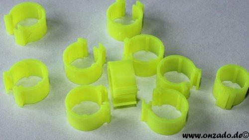 Clipsringe leuchtgelb 6 mm 10 Stück