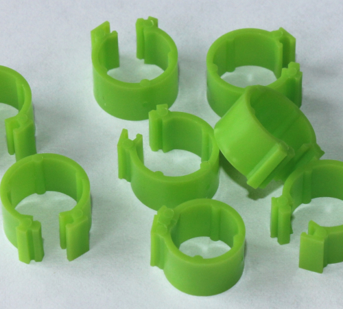 Clipsringe grasgrün 6 mm 10 Stück