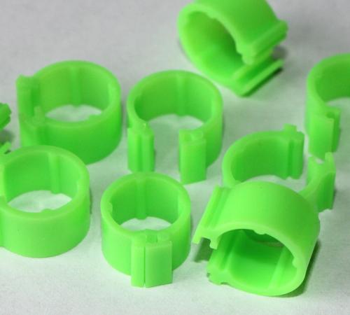 Clipsringe leuchtgrün 6 mm 10 Stück