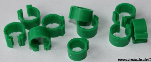 Clipsringe dunkelgrün 6 mm 10 Stück