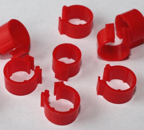 Clipsringe rot 6 mm 10 Stück