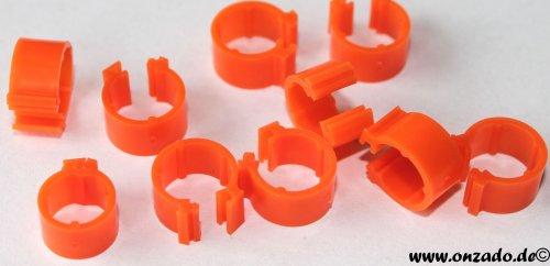 Clipsringe orange 6 mm 10 Stück
