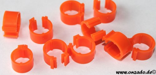 Clipsringe orange 6 mm 10 Stück