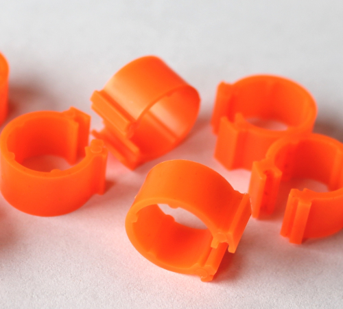 Clipsringe leuchtorange 6 mm 10 Stück