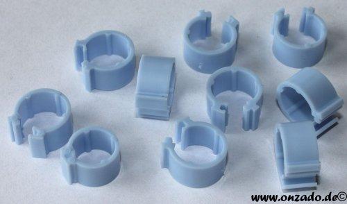 Clipsringe hellblau 6 mm 10 Stück