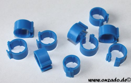 Clipsringe dunkelblau 6 mm 10 Stück
