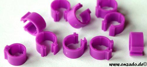 Clipsringe lila 6 mm 10 Stück