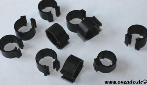 Clipsringe schwarz 6 mm 10 Stück