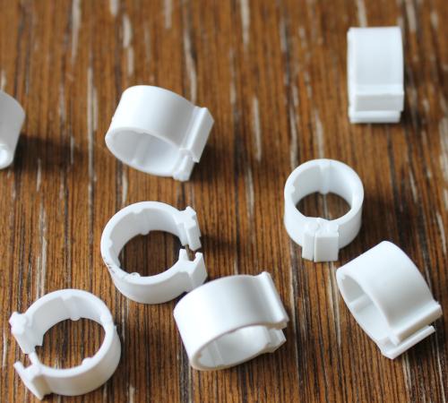 Clipsringe weiß 6 mm 10 Stück