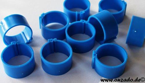 Clipsringe 18 mm blau 10 Stück