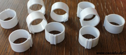 Clipsringe 18 mm weiß 10 Stück