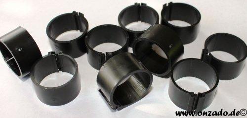 Clipsringe 18 mm schwarz 10 Stück