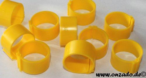 Clipsringe 18 mm gelb 10 Stück