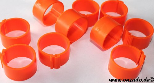 Clipsringe 18 mm orange 10 Stück
