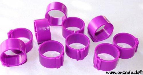 Clipsringe 18 mm lila 10 Stück