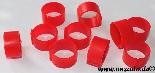 Clipsringe 18 mm rot 10 Stück