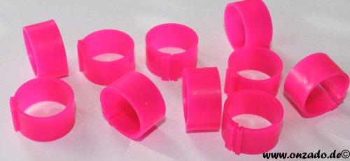 Clipsringe 18 mm leuchtend pink 10 Stück