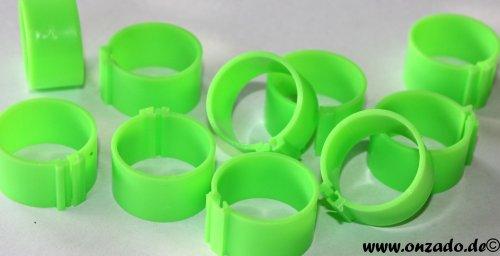 Clipsringe 18 mm leuchtend grün 10 Stück
