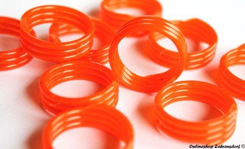 Spiralringe 18 mm orange 10 Stück