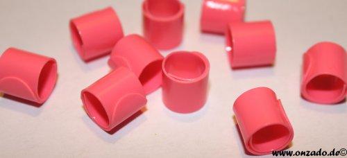 Bandringe 8 mm rosa 10 Stück
