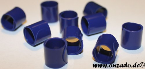 Bandringe 8 mm dunkelblau 10 Stück