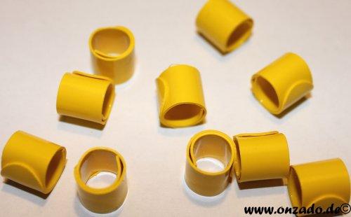 Bandringe 8 mm gelb 10 Stück