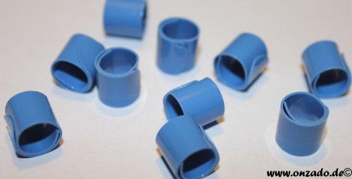 Bandringe 8 mm ostseeblau 10 Stück