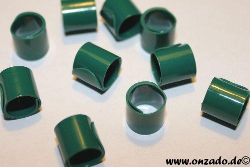 Bandringe 8 mm dunkelgrün 10 Stück