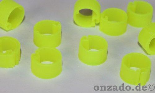 Clipsringe leuchtgelb 07 mm 10 Stück