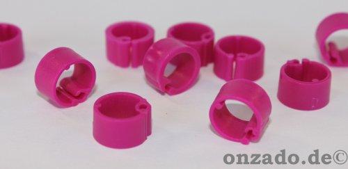 Clipsringe fliederfarben 07 mm 10 Stück
